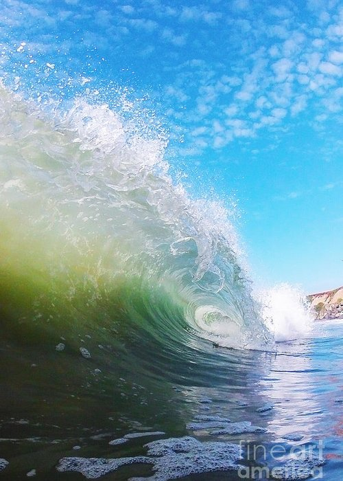 Wave Greeting Card featuring the photograph Colorful Curl by Paul Topp