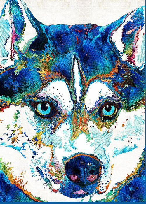 Sled Dogs Greeting Cards