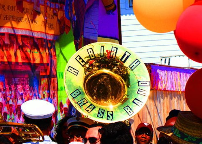 Brass Band Greeting Card featuring the photograph Colorful Image by David Fields