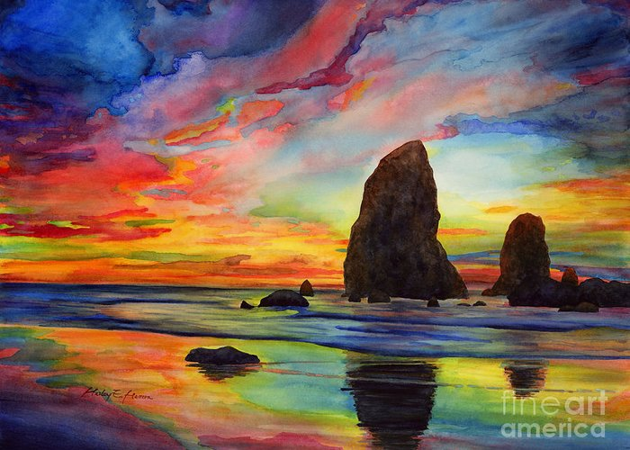 Colorful Cloud Formations Greeting Cards