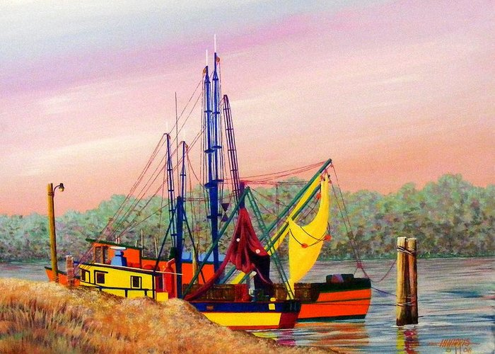 Landscape Greeting Card featuring the painting Colorful Tribute by Hugh Harris