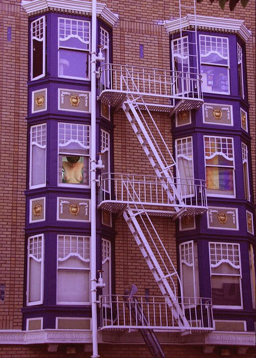 Windows Greeting Card featuring the photograph Colorfull Living Exposed by Nicholas J Mast