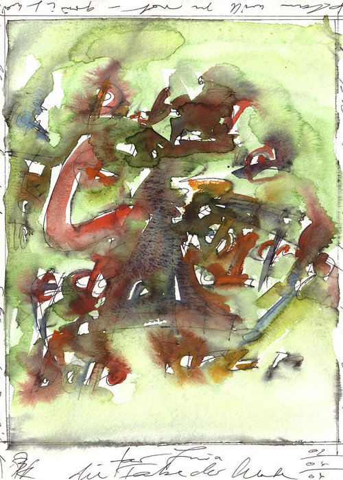 Abstract Art Paintings Greeting Card featuring the painting colorlanguage C by Joerg Bernhard Klemmer