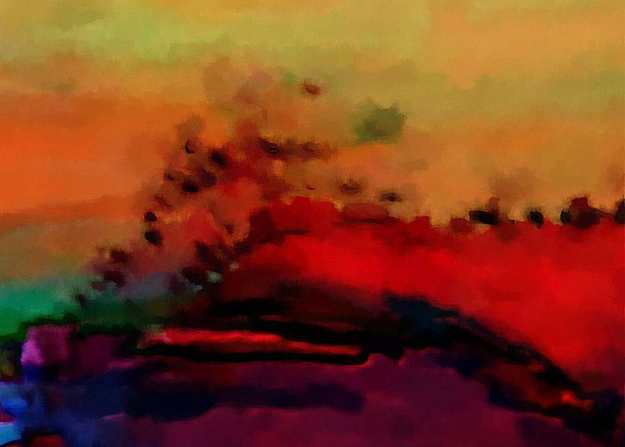 Digital Greeting Card featuring the digital art Colors In Aquarell by Ilona Burchard