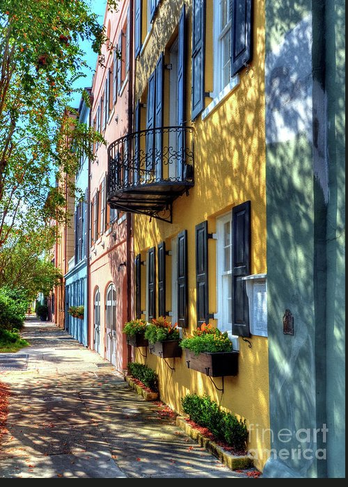 Charleston Greeting Card featuring the photograph Colors Of Charleston 5 by Mel Steinhauer