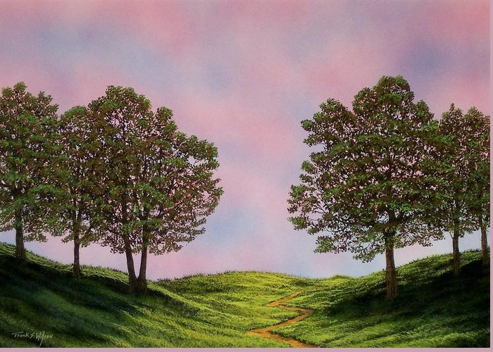 Landscape Greeting Card featuring the painting Colors Of Dawn by Frank Wilson