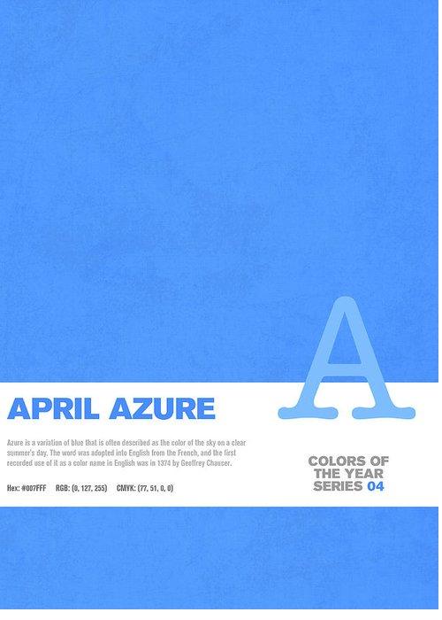 Azure Mixed Media Greeting Cards