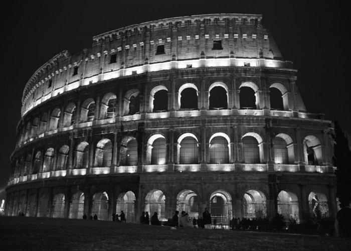 Italy Greeting Card featuring the photograph Colosseum by Kathy Schumann