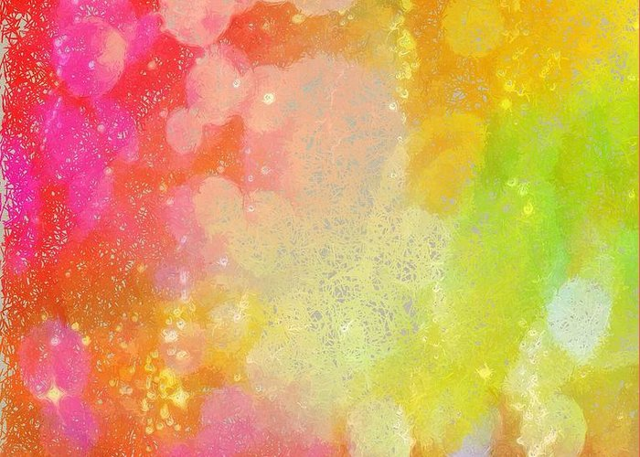 Abstract Greeting Card featuring the photograph Colour Sugar by Rita Koivunen