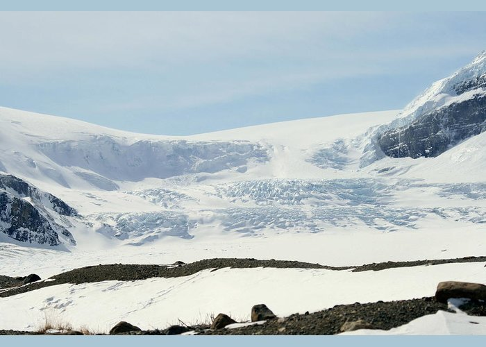 Glacier Greeting Card featuring the photograph Columbia Icefields by Tiffany Vest