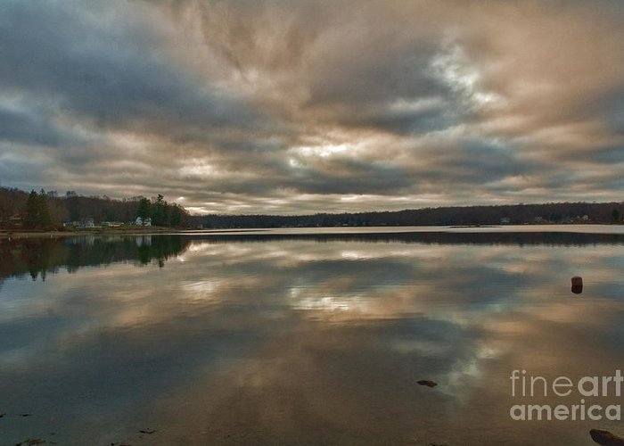 Columbia Ct Greeting Card featuring the photograph Columbia Lake by Edward Sobuta