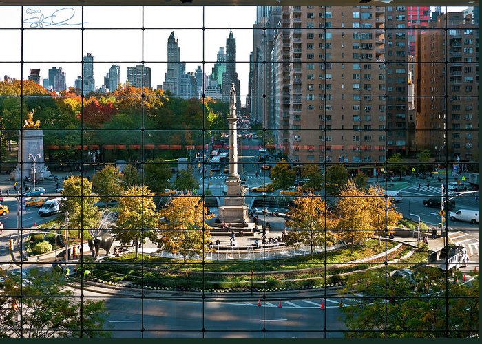 Nyc Greeting Card featuring the photograph Columbus Circle by S Paul Sahm