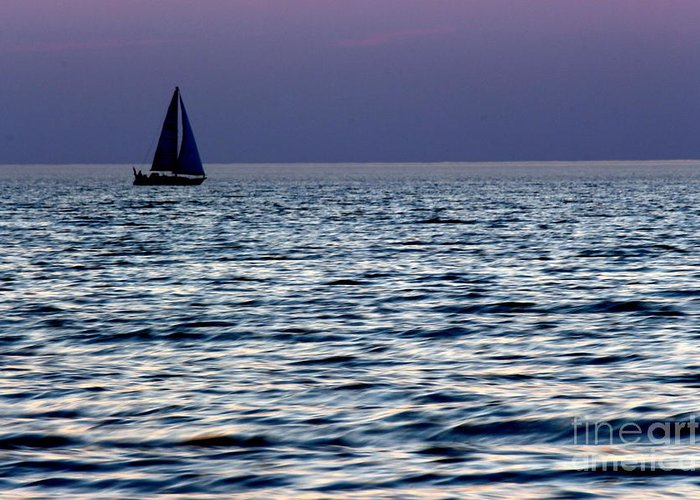 Grand Bend Greeting Card featuring the photograph Come Sail Away 6 by John Scatcherd