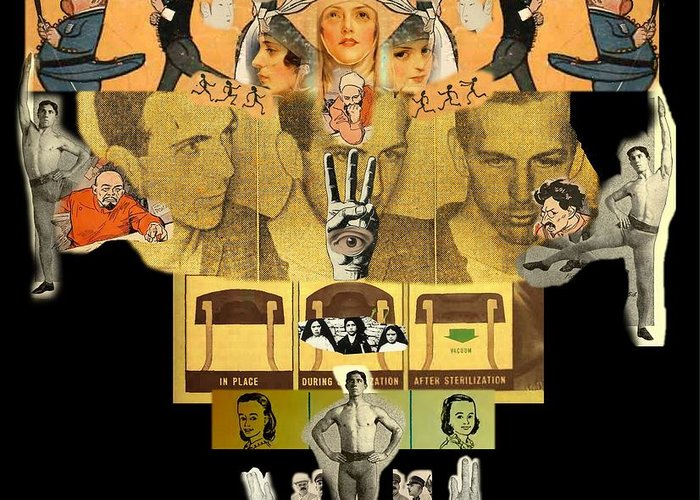Digital Art Greeting Card featuring the digital art Comes In Threes by Mandi Blais
