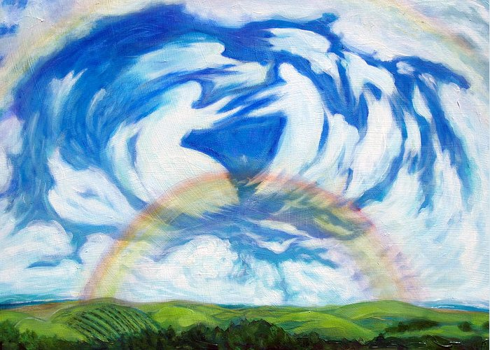 Heaven Greeting Card featuring the painting Coming Home by Jill Iversen