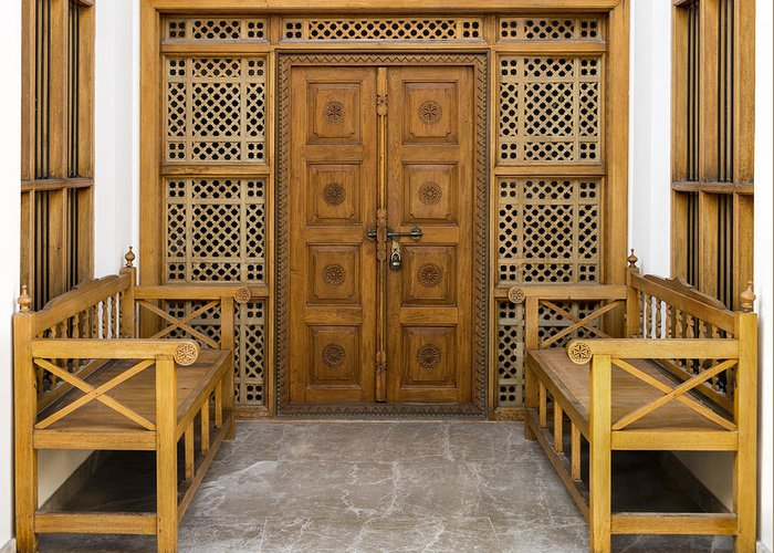 Middle East Greeting Card featuring the photograph Community Doorway by John Grummitt