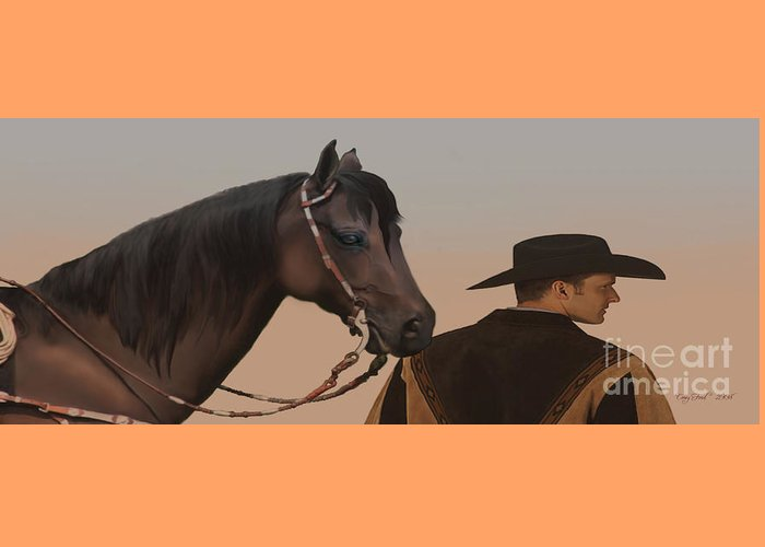 Cowboy Greeting Card featuring the painting Companions by Corey Ford