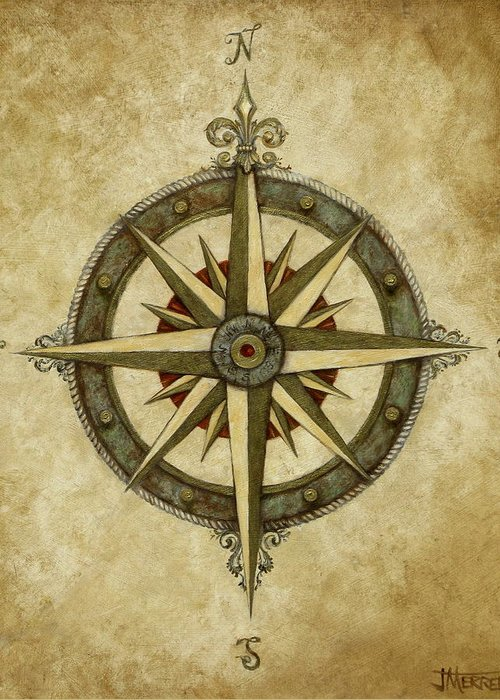 Compass Rose Greeting Cards