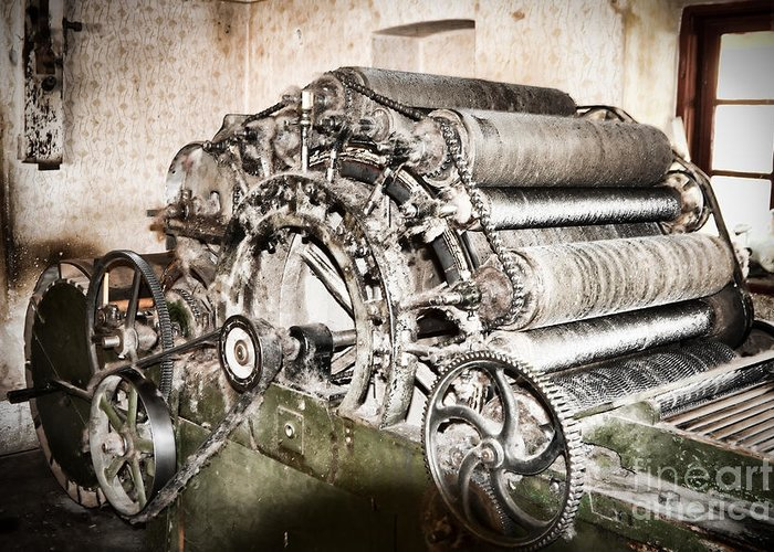 Machinery Greeting Card featuring the photograph Complicated by Gabriela Insuratelu