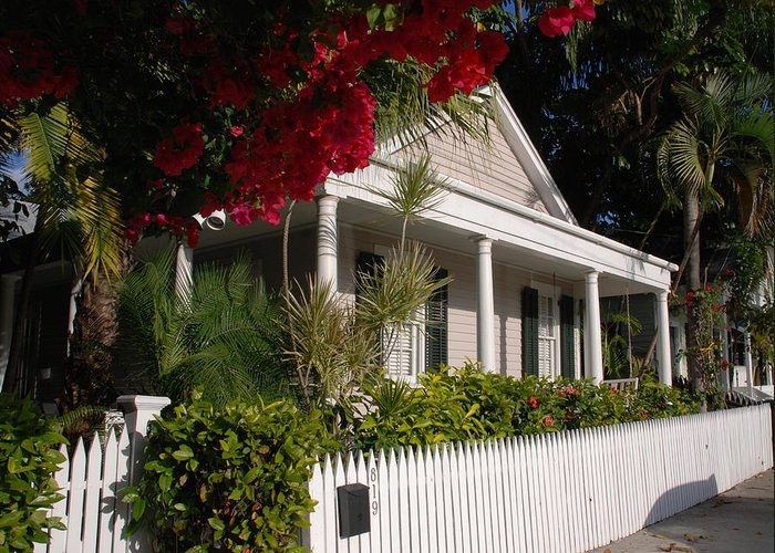 Photography Greeting Card featuring the photograph Conch House In Key West by Susanne Van Hulst