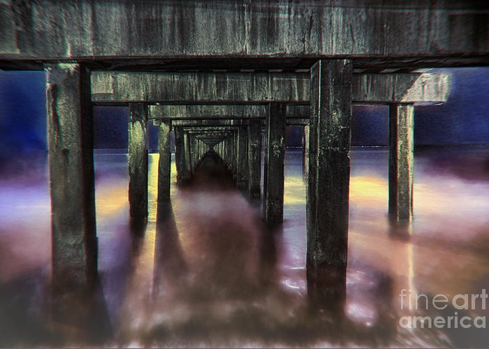 City Greeting Card featuring the photograph Coney Island Pier by Robert Gaines