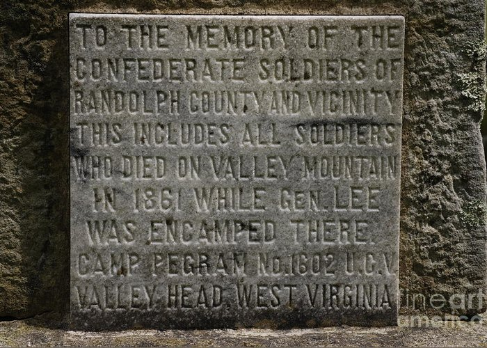 Confederate Soliders Greeting Card featuring the photograph Confederate Solider Monument by Randy Bodkins