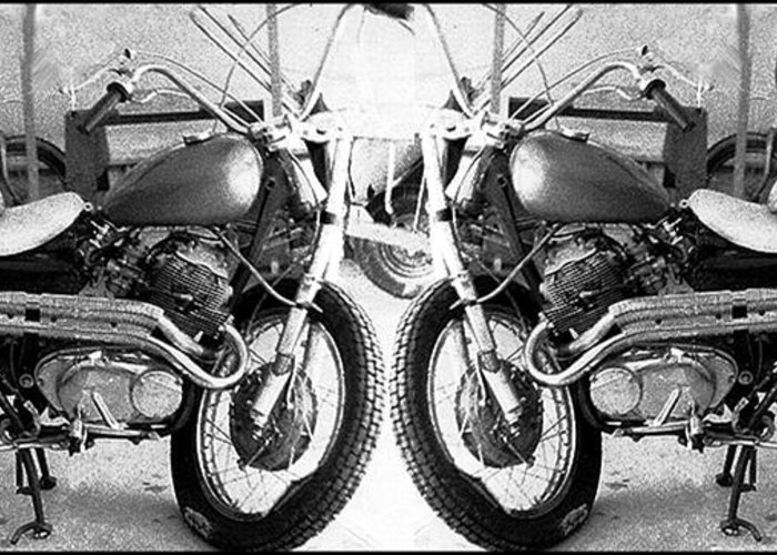 Motor Cycle Greeting Card featuring the photograph Confrontation With Death by Gerard Yates