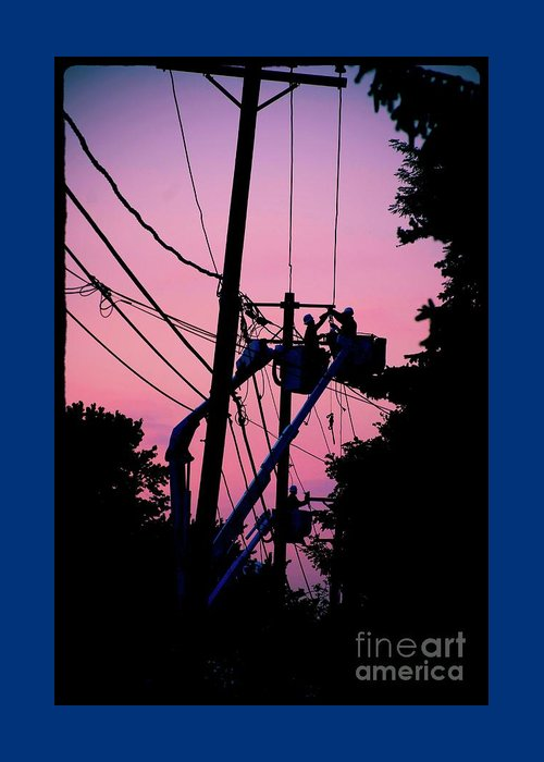 Photography Greeting Card featuring the photograph Connections by Frank J Casella