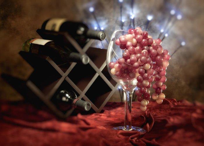 Wine Rack Greeting Cards