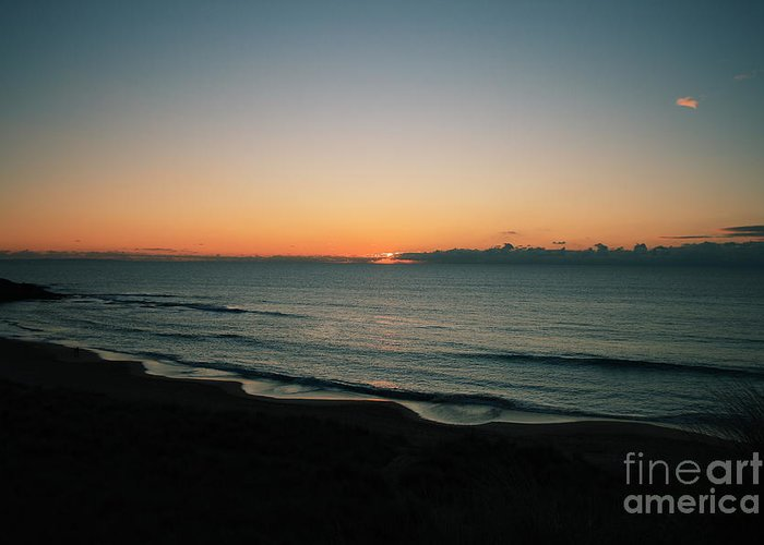 Constantine Bay Greeting Card featuring the photograph Constantine Sunset by Carl Whitfield