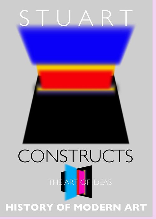 De Stijl Greeting Card featuring the painting Constuctivist Poster by Charles Stuart