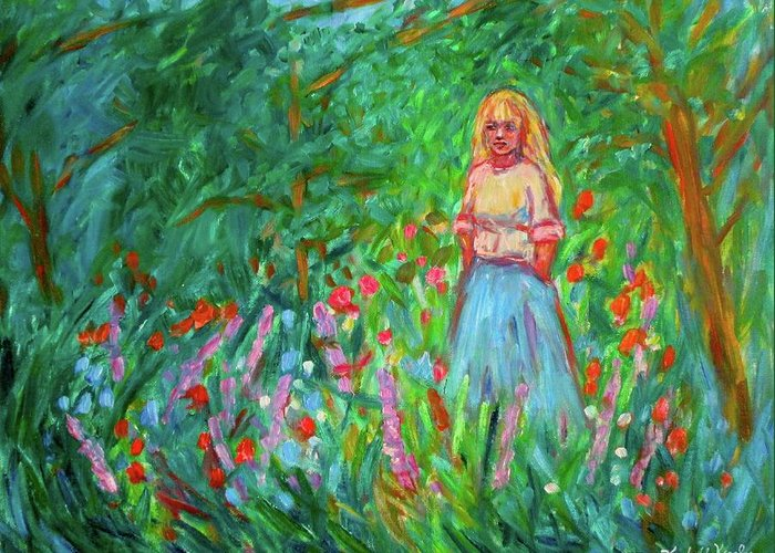 Landscape Greeting Card featuring the painting Contemplation by Kendall Kessler