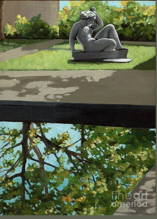 Landscape Painting Greeting Card featuring the painting Contemplation by Linda Apple