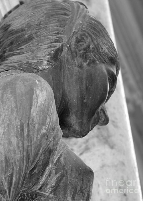 Sculpture Greeting Card featuring the photograph Contemplative by David Bearden