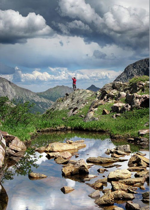 Weminuche Wilderness Greeting Card featuring the photograph Continental Divide Above Twin Lakes 4 - Weminuche Wilderness by Bruce Lemons