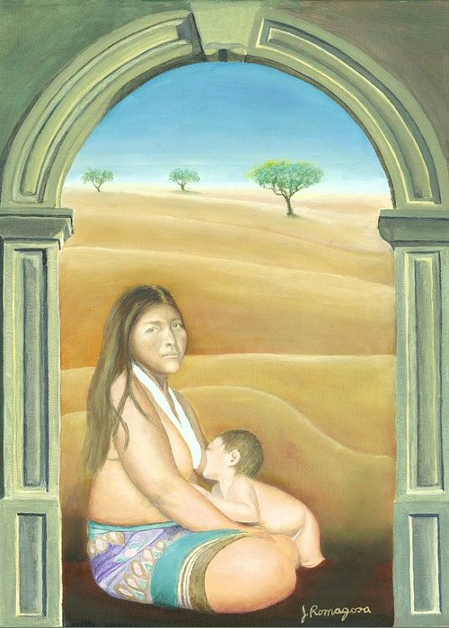 Nursing Greeting Card featuring the painting Convent Dream by Juan Romagosa