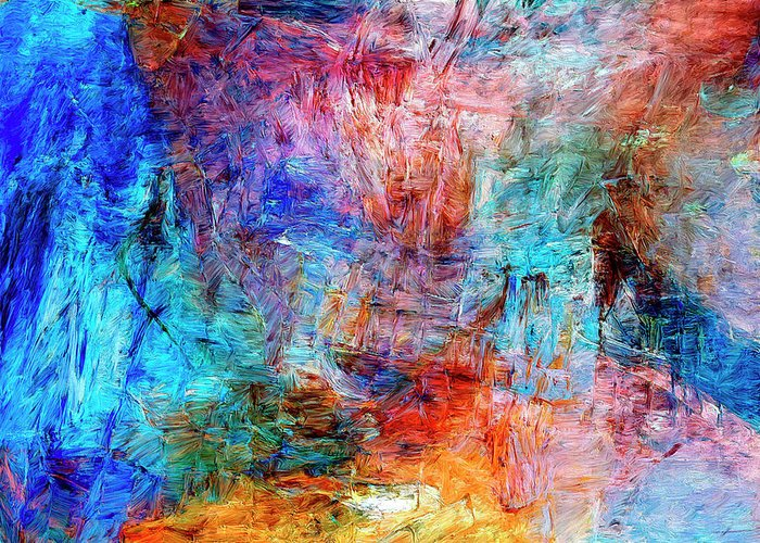 Abstract Greeting Card featuring the painting Convergence by Dominic Piperata