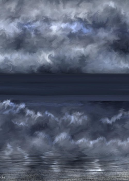 Seascape Greeting Card featuring the painting Convergence Zone by Anne Norskog