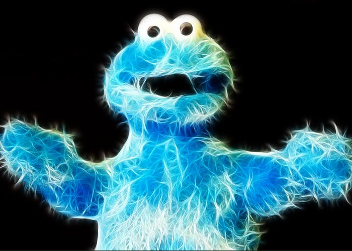 Lee Dos Santos Greeting Card featuring the photograph Cookie Monster - Sesame Street - Jim Henson by Lee Dos Santos
