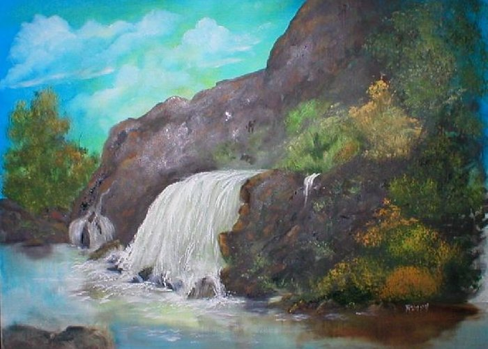 Water Greeting Card featuring the painting Cool And Refreshing by Rhonda Myers