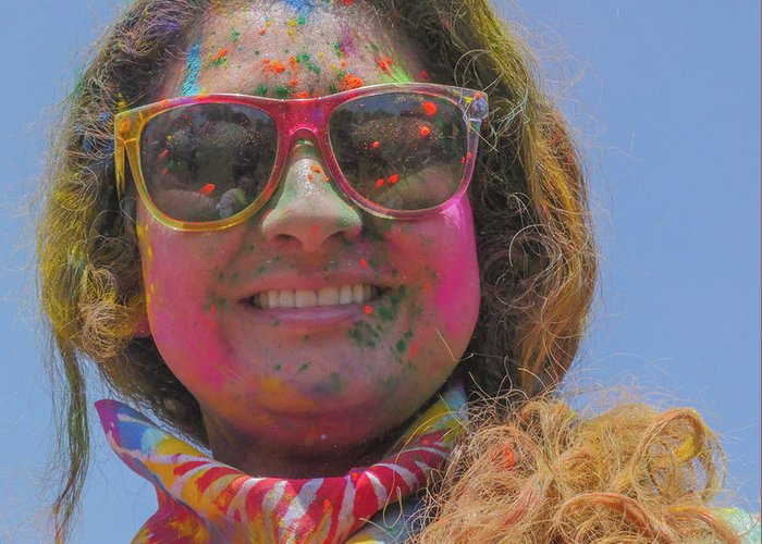 Holi Festival Greeting Card featuring the photograph Cool Colors by Billy Joe