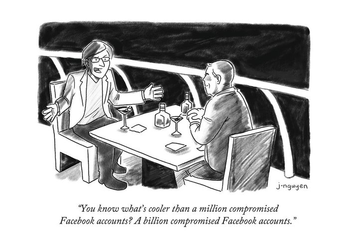 Cooler Than A Million Compromised Facebook Accounts Greeting Card