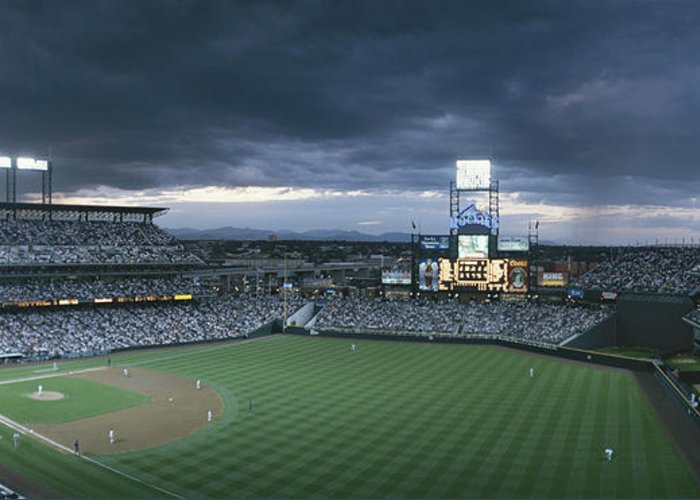 North America Greeting Card featuring the photograph Coors Field, Denver, Colorado by Michael S. Lewis