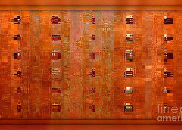 Warm Colours Abstract Greeting Cards