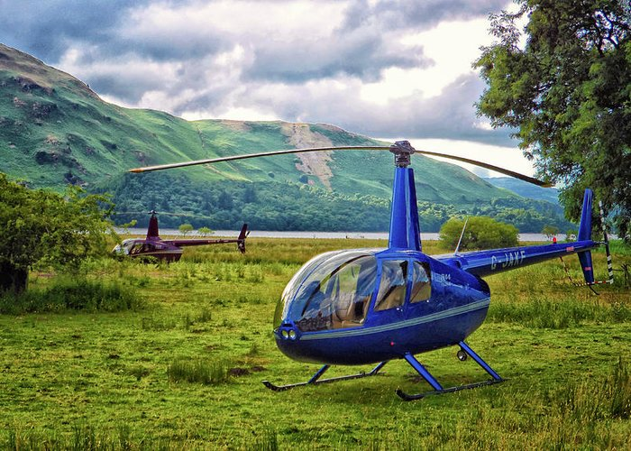 Copter Photographs Greeting Cards