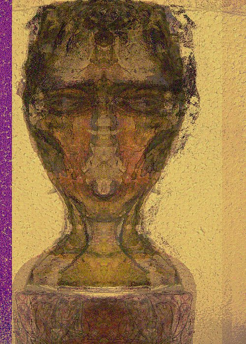 Relgion Greeting Card featuring the mixed media Coptic 3 by Noredin Morgan