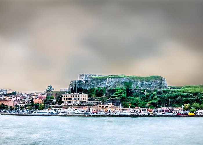 Architecture Greeting Card featuring the photograph Corfu by Maria Coulson