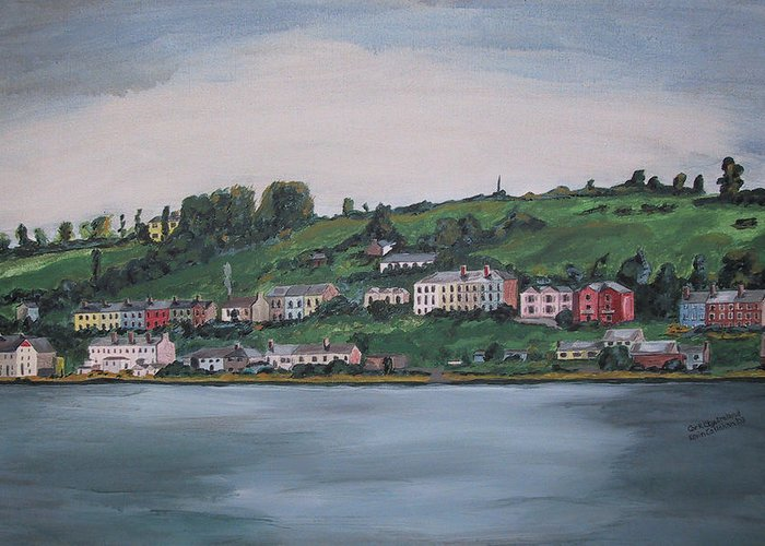 Landscape Greeting Card featuring the painting Cork City Ireland by Kevin Callahan