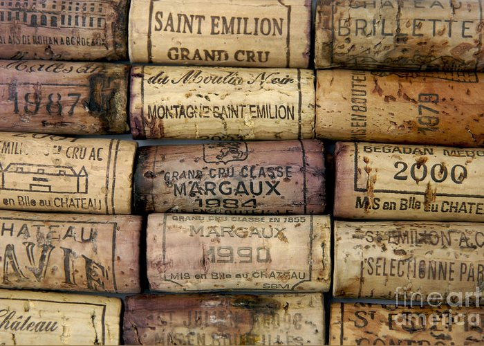 Bouchons Greeting Card featuring the photograph Corks Of French Wine by Bernard Jaubert
