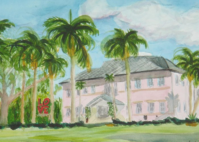 Cornell Museum Greeting Card featuring the painting Cornell Museum by Donna Walsh